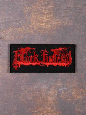 Black Funeral Logo Patch