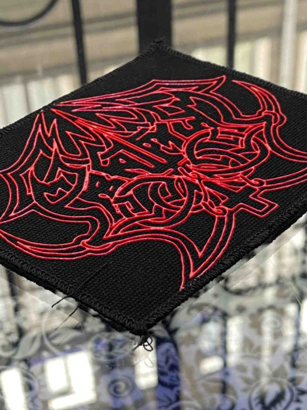 Abruptum Red Logo Printed Patch
