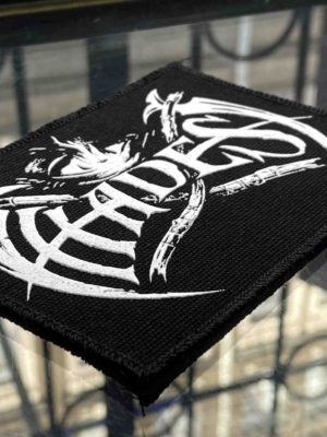 Hades White Logo Printed Patch